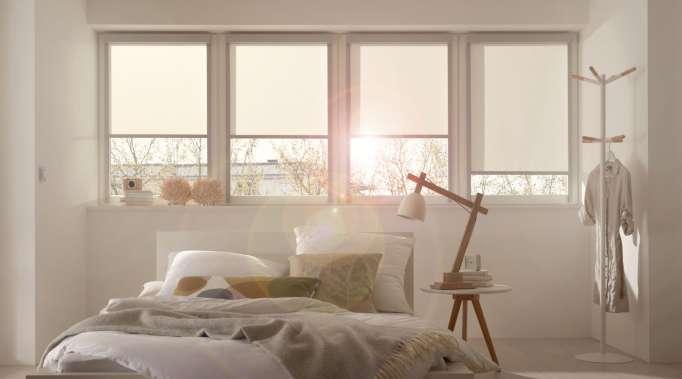 Warema-Kassetten-Rollo-Schlafzimmer Blendschutz