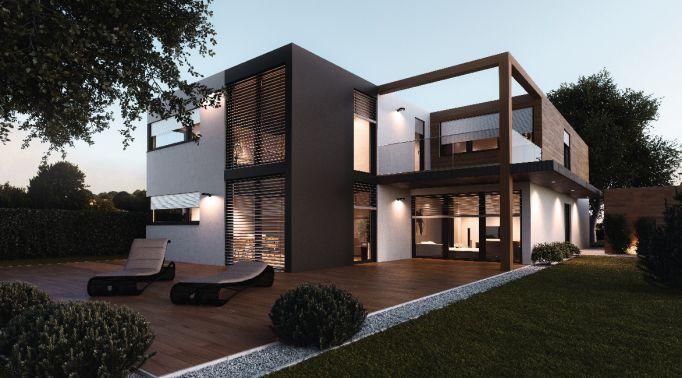 Raffstores-Aussenjalousien-an-Architektenvilla-2 Raffstores