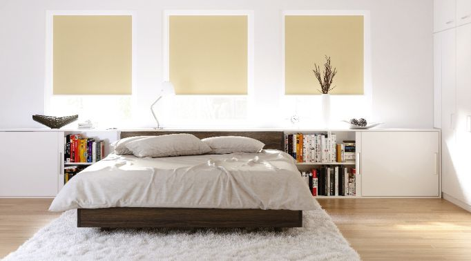 Warema-Glasleistenrollos-in-Schlafzimmer Glasleistenrollos Warema