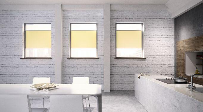 Warema-Glasleistenrollos-in-Wohnkueche Glasleistenrollos Warema