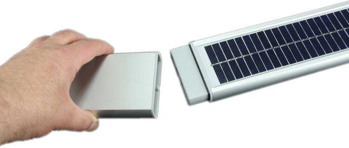 Solar-Rollladen-Anschluss-Solarpanel-Akku Solar Rollladen