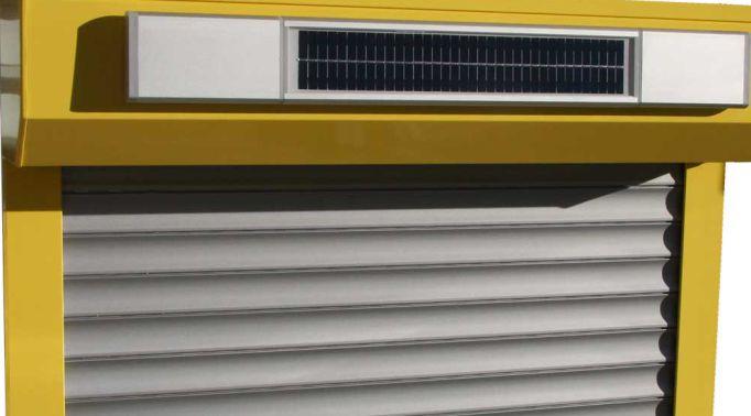 Solar-Rollladen-Nahansicht-Kassette-und-Akku Solar Rollladen
